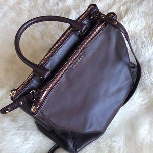 Sandro top handle leather bag